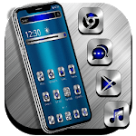 Blue Silver Metal Launcher Theme icon