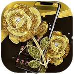 Gold Rose Luxury Black Business Theme icon