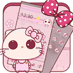 Pink Cute Kitty Bowknot Theme icon