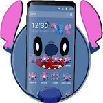 Cute Blue Devil Cartoon Theme🐨 icon