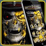 Luxury Golden Metal Skull Theme for pc icon