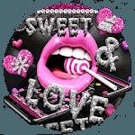 Glitter Pink Lips Sweet Love Theme icon