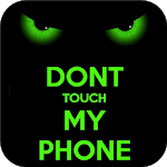 Green Staring Don't Touch My Phone Theme icon