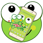 Green Cartoon Frog Big Eyes Theme icon