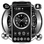 Black Metal Luxury Watch Theme icon