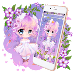 Cute Princess Kawaii Girl Theme💃 icon