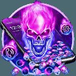 Purple Blue Fire Skull Gravity Theme icon