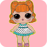 Dolls Surprise Coloring Pages Lol icon