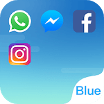 Dual Space - Multi Accounts & Fresh Blue Theme icon