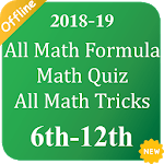 All Math Formula, Math Quiz, All Math Tricks icon