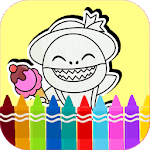 Baby Shark coloring book icon