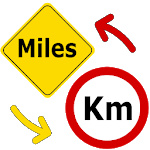 Miles to Kilometers / miles to km Converter icon
