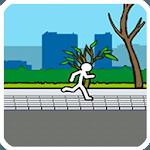 Street runner stick icon