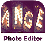 Photo Editor : Write your name with a candles icon