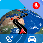 GPS Live Map Direction Navigation & Street View 3D icon