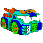 Futuristic Cars Color by Number: Vehicles Coloring icon