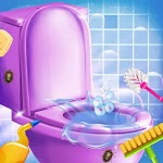 Washroom Cleanup - House Cleaning, Color by Number icon