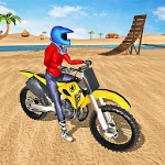 Offroad Bike Stunts Racing - Beach Bike Simulator icon