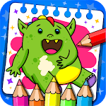 Monsters - Coloring Book & Games for Kids icon