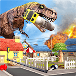 Dino Rampage Attack: City T-Rex VS Angry Gorilla icon