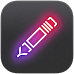 NEONY - writing neon sign text on photo easy icon