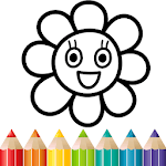 Rainbow Flower Coloring and Drawing for kids icon