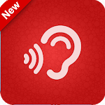 Sound amplifier listening device super hearing icon