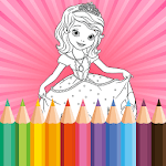 Coloring Book for Disney Princess - for girls game icon