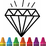 Diamond Coloring & Drawing for kids icon