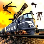 Train shooting - Zombie War icon
