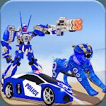 US Police Robot War Tiger Robot Transform Games icon
