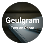Geulgram - Text on Photo, quote maker icon