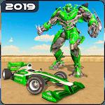 City Formula Car Robot Transform Robot Car Games icon