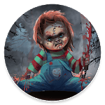 Scary Doll Halloween Theme - Wallpapers and Icons APK icon