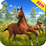 Wild Horse Family Simulator : Horse Games icon