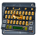 3D Cool Gun and Bullet Shooting Theme Keyboard icon