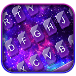 Fantasy Galaxy Glitter Theme Keyboard APK icon
