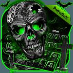 Green Zombie Skull Parallax keyboard icon