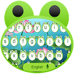 Cute Frog Big Eyes keyboard Theme for pc icon