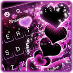 Sparkling Purple Heart Keyboard Theme icon