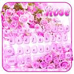 Pink Lavender Rose Keyboard Theme icon