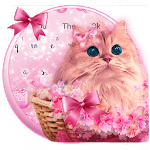 Cute Pink Kitty Love Keyboard Theme icon
