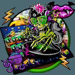 Graffiti Skull DJ Music Keyboard Theme APK icon