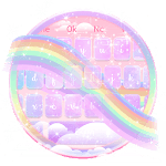 Glossy Galaxy Rainbow Keyboard Theme APK icon