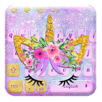 Lavender Blue Flower Unicorn Keyboard for pc icon