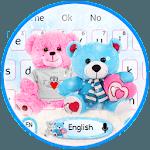 Cute Teddy Bear Couple Love Keyboard icon