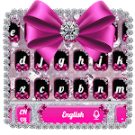 Diamond Bowknot Glitter Keyboard Theme icon