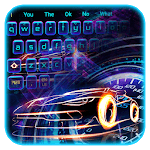 Blue laser keyboard icon