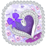 Glitter Diamond Heart Keyboard icon
