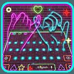 Neon Pink Sparkling Keyboard Theme APK icon